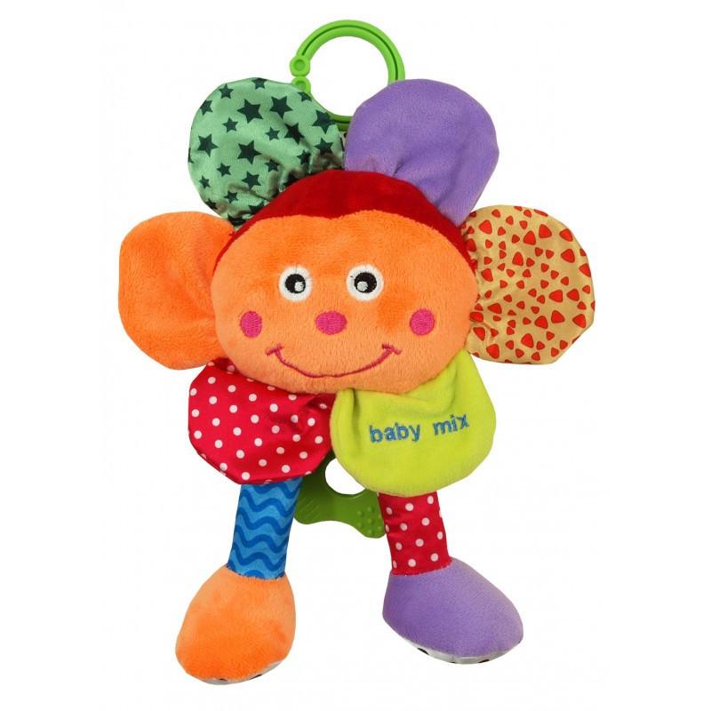 Музыкальная детская игрушка на кроватку Baby Mix STK-15588FL Плюшевый цветок (5993)