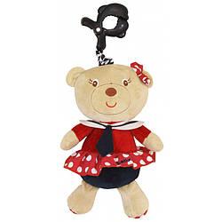 Музыкальная детская игрушка с клипсой для автокресла Baby Mix P/1173-3700, плюшевая девочка-морячка (8008)