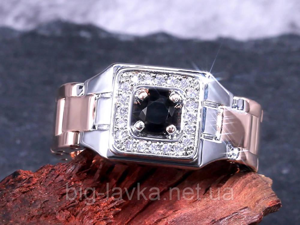 Кольцо-печатка, перстень Jewelry размер 9  Черный