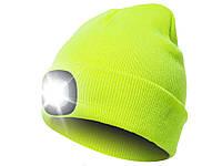 Шапка вязаная с фонариком Bonnet  Зеленый