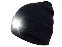 Шапка вязаная с фонариком Bonnet  Черный