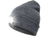 Шапка вязаная с фонариком Bonnet Серый  Серый