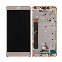 Дисплей для Xiaomi Redmi Note 4 Оригинал Золотистый с сенсором и рамкой MediaTek