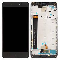 Дисплей для Xiaomi Redmi Note 4 Оригинал Черный с сенсором и рамкой MediaTek