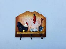 Вешалка Кухонный домик, коричневый (123574)