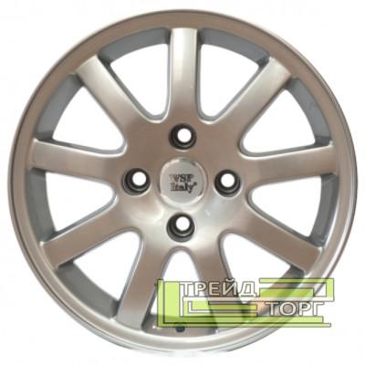 Литий Диск WSP Italy Peugeot (W812) Nice 6.5x15 4x108 ET16 DIA65.1 Silver (Срібло)