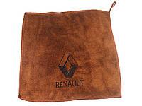 Рушник для автомобіля з логотипом мікрофібра 30 х 30 см Renault