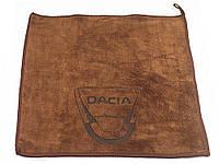 Рушник для автомобіля з логотипом мікрофібра 30 х 30 см Dacia