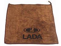 Рушник для автомобіля з логотипом мікрофібра 30 х 30 см Lada