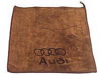 Рушник для автомобіля з логотипом мікрофібра 30 х 30 см Audi