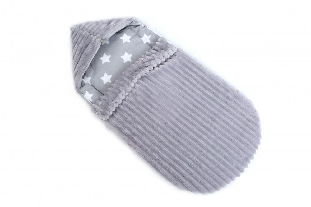 Конверт мягкий для новорожденных в коляску Twins Trip 80х35 см., серый