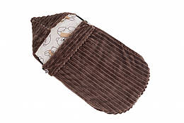 Детский теплый конверт в коляску Twins Trip 80х35 см., коричневый