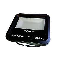 Прожектор Feron LED LL-650 50W 6400K 230V черный IP65