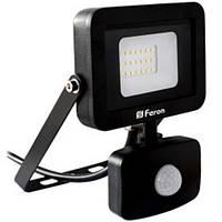 Прожектор Feron LED LL-802 20W 6400K 230V черный с датчиком