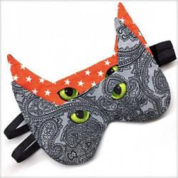 """Маска для сна """"Кот серый зеленоглазый"""", один размер"""
