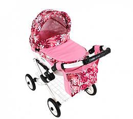 Детская коляска игрушечная для куклы Adbor Lily 22, 70х75х38 см., розовая