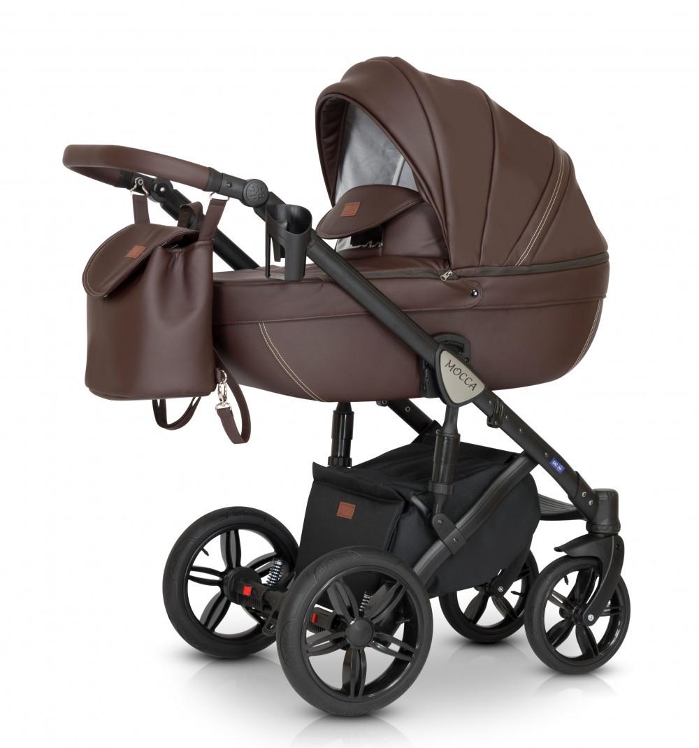 Универсальная детская коляска 3 в 1 Verdi Mocca 02, коричневая (9120)