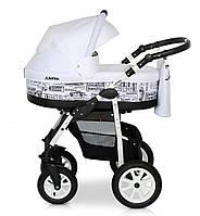 Детская универсальная коляска 2 в 1 Verdi Laser 03, белая (6350)