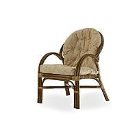 Кресло с подушкой Calamus Rotan 0125 олива
