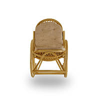 Кресло-качалка с подушкой Calamus Rotan 0504 мед