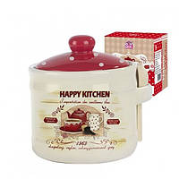 Банка для меда 500 мл Happy Kitchen с ложкой 2370-11
