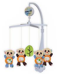 Каруселька детская музыкальная механическая Baby Mix с плюшевыми игрушками, Панда TK-336М (3691)