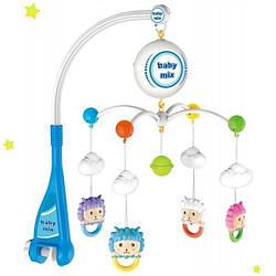 Детская карусель пластиковая на батарейках Alexis Baby Mix HS-1668M, Овечки. Подарок новорожденному на выписку