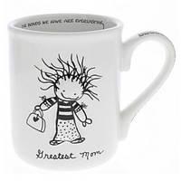 """Керамическая чашка с ручкой """"Самая лучшая мама"""" Enesco 400 мл., белая"""