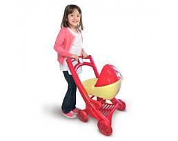 Коляска игрушечная детская Active Baby для кукол с люлькой, малиновая