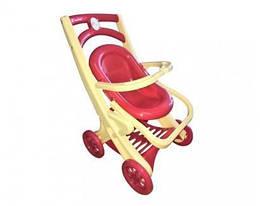 Игрушечная детская коляска DoloniToys для кукол сшезлонгом, розовая