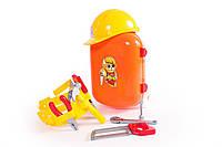 Игровой детский Набор инструментов ТехноК в чемодане, оранжевый