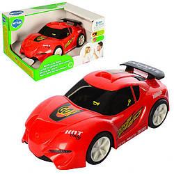 Детская машинка Hola спортивная с музыкой и светом 17 см., красная
