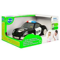 Детская игрушечная машинка полиция со звуковыми и световыми эффектами, черная