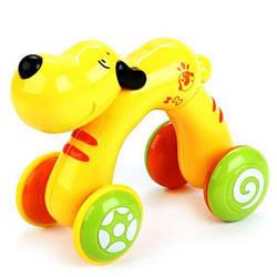 Детская игрушка каталка со звуковыми эффектами «Щенок Снопик» Mommy Love, 11 х 22 х 17 см