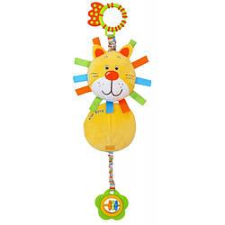 Детская игрушка на коляску с погремушкой и прорезывателем Baby Mix TE-8460-13 Лев (6615)