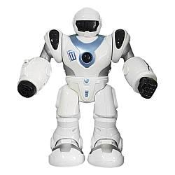 """Интерактивная игрушка робот электронный, стреляет, ходит, светится, говорит на русском Zhorya """"Бласт"""", белый"""