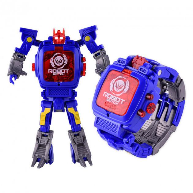"""Игрушка QUNXING """"Часы-трансформеры"""", синие (D622-H011-4)"""