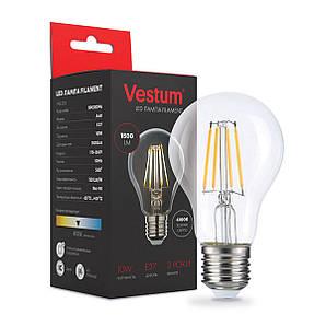 Лампа LED Vestum филамент А60 Е27 10Вт 220V 4100К