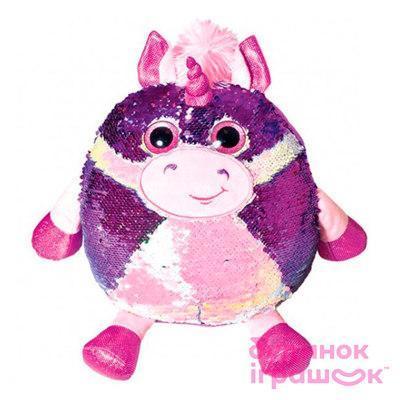 Игрушка детская мягкая с пайетками гипоаллергенная Единорог Кэлвин Fancy, 28 см