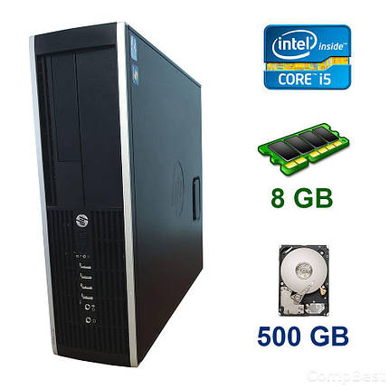 HP Compaq 6300 SFF / Intel Core i5-2300 (4 ядра по 2.8 - 3.1 GHz) / 8 GB DDR3 / 500 GB HDD / USB 3.0, фото 2