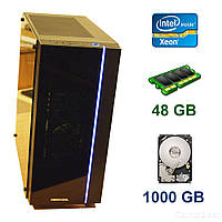 Midi-Tower / 2x Intel Xeon X5675 (6 (12) ядер по 3.06 - 3.46 GHz) / 48 GB DDR3 / 1000 GB HDD / Блок питания 550 WT