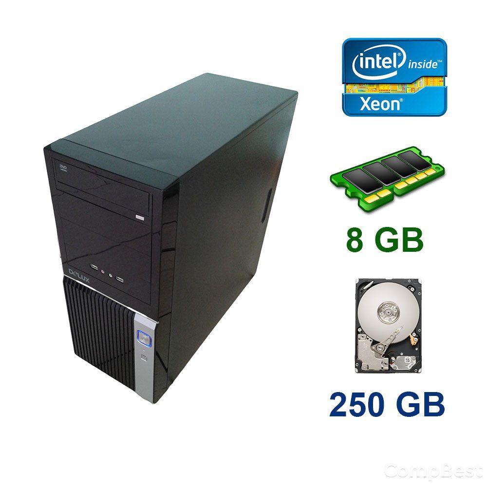 Supermicro Midi-Tower / Intel Xeon E3-1240 (4 (8) ядра по 3.3 - 3.7 GHz) / 8 GB DDR3 ECC / 250 GB HDD / Блок питания 350W