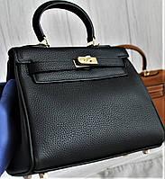 Женская кожаная сумка Kelly 28 см шикарная сумка Original quality Келли