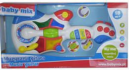 Детская развивающая игрушка музыкальная гитара Baby Mix PL-318208, белая