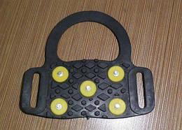 Ледоступы Supretto миниатюрные 5 шипов, черные