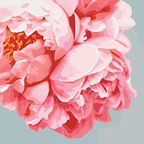 """Картина по номерам на холсте. Идейка Букеты """"Розовые пионы""""  40*40 см., сложность 3"""