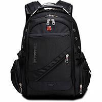 Рюкзак с дождевиком SwissGear для ноутбука с защитой от воды + AUX и USB выход