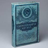 Сейф книга для денег на ключе Сберегательная книжка 26 см. (105428)