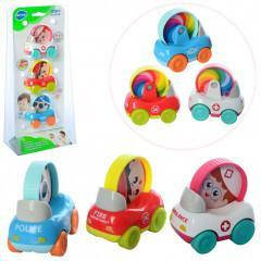 Детский набор разноцветных машинок для мальчика Hola Toys 3 штуки