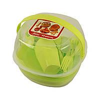Набор пластиковой посуды для пикника 48 предметов (50920001)